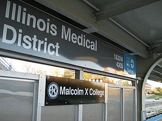 Illinois Medical District station - Image: Illinois MD CTA