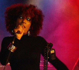 Imani Coppola - Coppola sings at a show in Milan in November 2007.