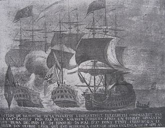 Ostend Company - Barbary pirates capture the Impératrice Élisabeth of the Ostend Company, 1724