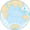 Map of the Indian Ocean
