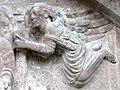 Innichen Stiftskirche - Romanisches Südportal 2a Tympanon Engel.jpg
