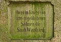 Inschrift Kriegerdenkmal 1870-1871, Wanfried, Hessen, Deutschland IMG 0666 edit.jpg