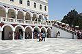 Inside area of pilgrimage basilica, Chora of Tinos, 090788.jpg