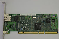 A PCI-X Gigabit Ethernet expansion card
