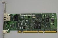 A PCI-X Gigabit Ethernet expansion card