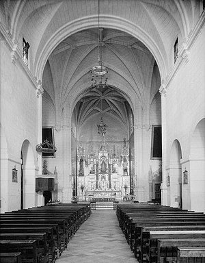 San José Church - View of the interior, ca 1933