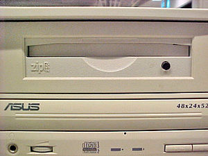 Zip drive - An internal Zip drive installed in a computer