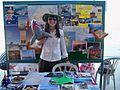 International Volunteer represents her County (Australia), Zajel Global Village.jpg