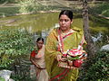 Inviting Goddess Ganga - Hindu Sacred Thread Ceremony - Simurali 2009-04-05 4050078.JPG