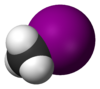 Spacefill model of methyl iodide