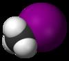 Spacefill-modelo de metiljodido