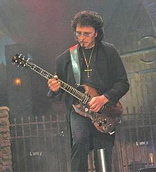 Tony Iommi's guitar style greatly influenced and defined doom metal. Iommi at the Forum.jpg