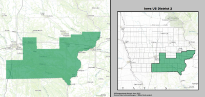 Iowa's 2nd congressional district - since January 3, 2013.