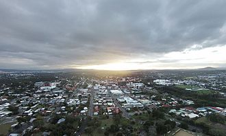 Ipswich, Queensland - Image: Ipswich QLD Australia City Skyline Aerial Shot CBD and surrounds