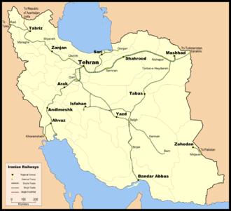Railway electrification in Iran - Railway network in Iran