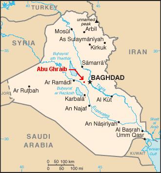 Iraq map Abu Ghraib