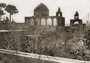 New Julfa - An old photograph of the Holy Savior Cathedral from the 1930s.