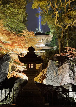 Ishiyama-dera - At night during Koyo