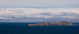 Isla de la Luna - View of Isla de la Luna from Isla del Sol