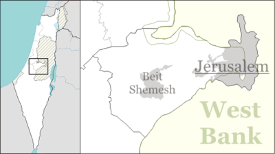 Location map Israel jerusalem