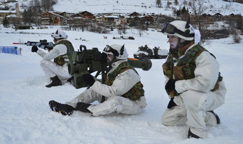 Italian Army 2nd Alpini Regiment Spike missile