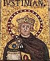 Italie, Ravenne, basilique Sant'Apollinare Nuovo, portrait de l'empereur Justinien (48087107182).jpg