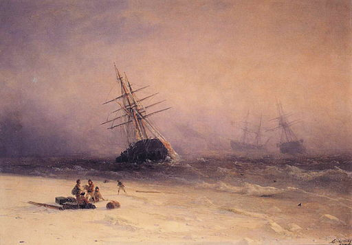 Ivan Constantinovich Aivazovsky - Shipwreck in the North Sea