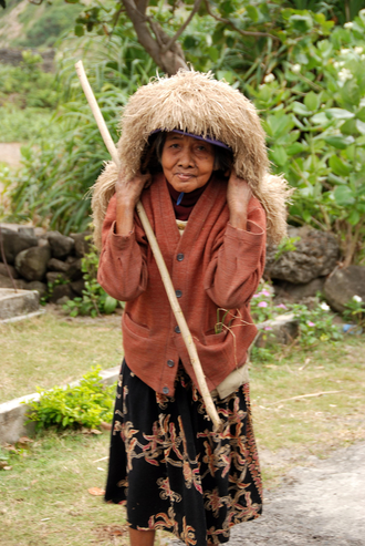 Batanes - An elderly Ivatan woman
