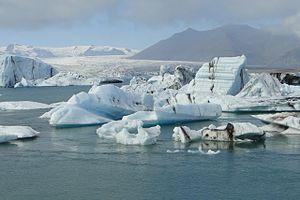 Jökulsárlón Glacial lagoon with icebergs