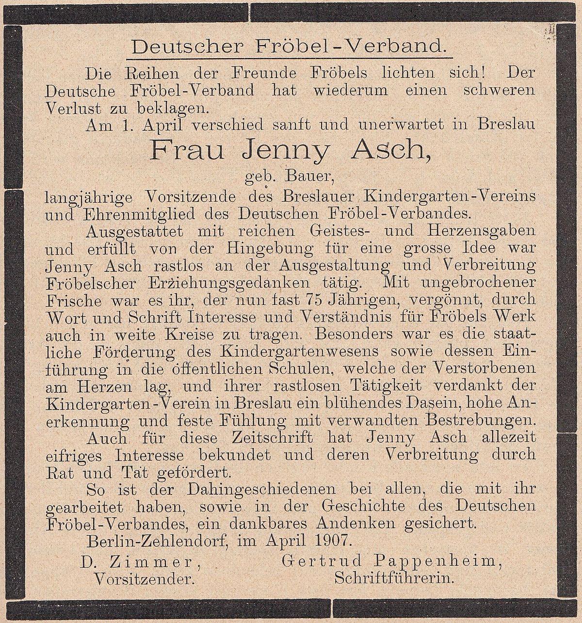 Jenny Asch Wikipedia