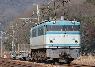 JNR Class EF65 - Image: JNR EF65 114 8866