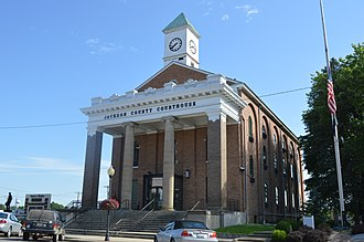 Jackson County, Ohio - Image: Jackson County Courthouse, Jackson