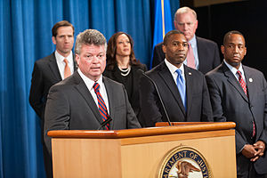 Jim Hood - Jim Hood speaking at a Department of Justice event.