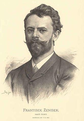 František Ženíšek - František Ženíšek.  Portrait by Jan Vilímek