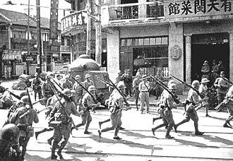 Wilfred Wong Sien-bing - Japanese soldiers in Shanghai, 1937.
