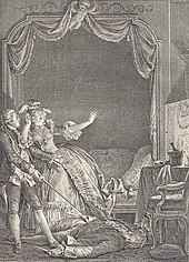 Philippe Trière nach Jean-Michel Moreau: Illustration zu Candide in der 70-bändigen Voltaire-Ausgabe, Kehl 1787. (Quelle: Wikimedia)