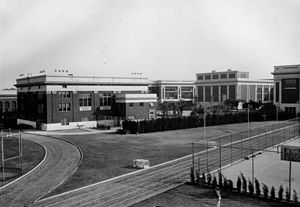 Jefferson High School (Los Angeles) - Jefferson High Original School from the Rear, 1920