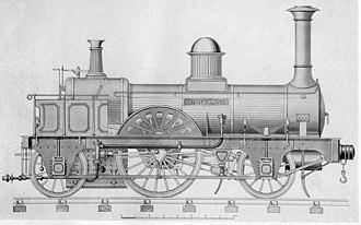 """2-2-2 - The original """"Jenny Lind"""" locomotive, 1847."""