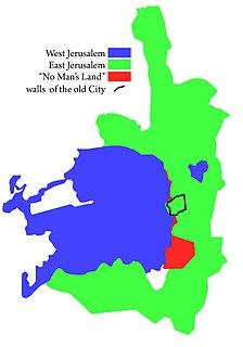 West Jerusalem section of Jerusalem that remained under Israeli control after the 1948 Arab–Israeli War
