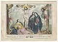 Jesus raised on the cross - lith. & pub. by J. Baillie. LCCN98514404.jpg