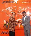 Jetstar Travel Shop, Central Jakarta Pak Anton & Bara (10185823545).jpg