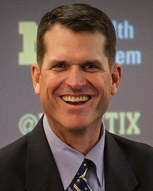 Jim Harbaugh - Harbaugh at a press conference in 2014