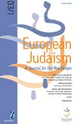 European Judaism (journal) - Image: Jnl cover eurojud