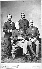 Söhne Johann Salvator, Ludwig Salvator, Ferdinand IV. und Karl Salvator von Österreich-Toskana (Quelle: Wikimedia)