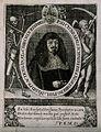 Johann Konrad Schaeffer, holding a flower. Line engraving wi Wellcome V0005267ER.jpg