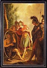 Schoorsteenstuk met Alexander en Diogenes