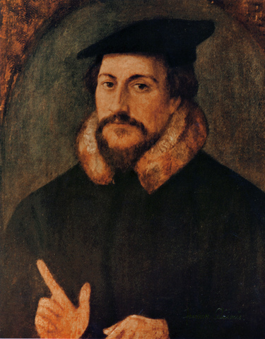 John Calvin, possibly by Hans Holbein the Younger, 1550s. (Wikimedia Commons)