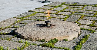 John F. Kennedy Eternal Flame presidential memorial in the United States