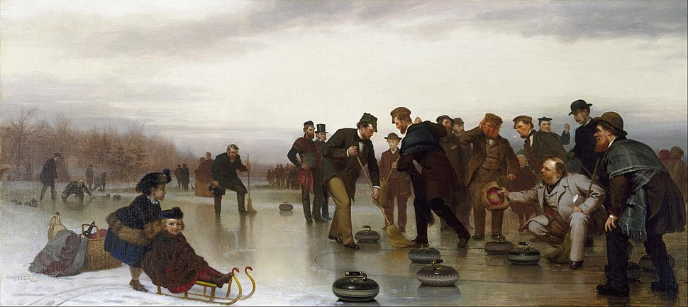 John George Brown - Curling;--a Scottish Game, at Central Park - Google Art Project