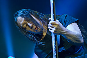 John Myung - Myung at Mitsubishi Electric Hall Düsseldorf in 2014.